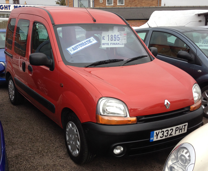 2001 renault kangoo authentique automatic used car sales car dealer hereford herefordshire. Black Bedroom Furniture Sets. Home Design Ideas